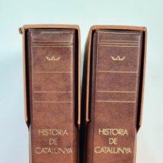 Material numismático: ALBUMES DE SELLOS. HISTORIA DE CATALUNYA. PREHISTORIA Y EDAD MODERNA. AÑOS 80.. Lote 210189096