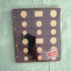Material numismático: JUEGO DE 6 HOJAS PARDO EUROS. Lote 210380598