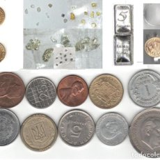 Material numismático: LOTE INVERSION COLECCION MONEDAS ORO PLATA PEPITAS LINGOTE JOYA PLATINO DIAMANTE. Lote 211428907