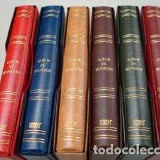 Material numismático: OFERTÓN ¡¡¡¡¡¡ 7 ÁLBUMES MONEDAS FOLIO 27X33 CM.PARA HOJAS 20 CARTONES.4 ANILLAS.. Lote 234586120