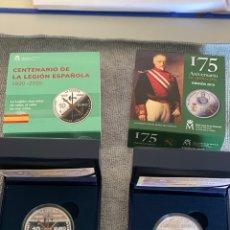 Material numismático: MONEDA 175 ANIVERSARIO GUARDIA CIVIL Y MONEDA CENTENARIO DE LA LEGIÓN ESPAÑOLA. Lote 213455400