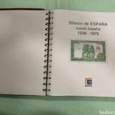 Material numismático: HOJAS DE ALBUM DE BILLETES ESTADO ESPAÑOL. Lote 268801109