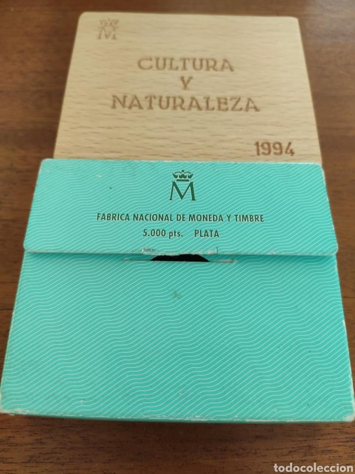 Material numismático: Estuche vacio 5.000 pesetas 1994 aguila imperial - Foto 3 - 214183513