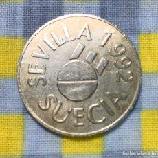 """Material numismático: EXPO 92 SEVILLA REPLICA MONEDA SUECIA SEVILLA 1992 """"ESTA LA ROBE EN EL PABELLON DE SUECIA """".. Lote 214924261"""