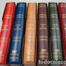 Material numismático: 6 ÁLBUMES MONEDAS FOLIO 27X33 CM.PARA HOJAS 20 CARTONES. Lote 215648652