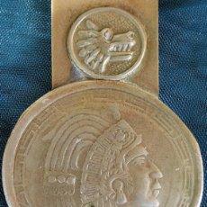 Material numismático: BONITA PINZA PARA BILLETES - INDIO - ANIMAL - AZTECA - BILLETERO - CLIP DE METAL - COLECCIÓN -. Lote 217087046