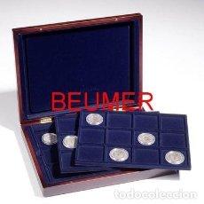 Material numismático: ESTUCHE MADERA VOLTERRA TRIO. CON 3 BANDEJAS.. Lote 218117902