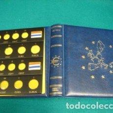 Material numismático: ALBUM MONEDAS €URO NUMIS CON 6 HOJAS PARA 12 SERIES/PAÍSES.. Lote 218120487