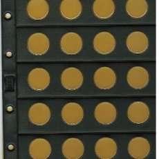 Material numismático: 5 HOJAS NUMIS NEGRA CLARABOYA / BURBUJAS 20 D. Lote 218121276