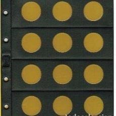 Material numismático: 5 HOJASNUMIS NEGRA CLARABOYA / BURBUJAS 12 D. Lote 218121787