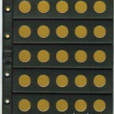 Material numismático: 5 HOJAS NUMIS NEGRA CLARABOYA / BURBUJAS 25 D. Lote 218121957