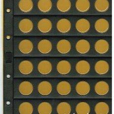 Material numismático: 5 HOJAS NUMIS NEGRA CLARABOYA / BURBUJAS 30 D. Lote 218123461
