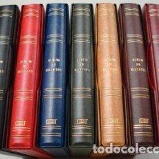 Material numismático: ALBUM BILLETES LUXE 27X33CM. 4 ANILLAS.GAMA COLORES. LUXE. Lote 218435833