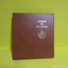 Material numismático: ALBUM PARA COLECCIONAR BILLETES EN PIEL O SIMIL CON 25 HOJAS INCLUIDAS. Lote 218443647
