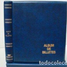 Material numismático: ALBUM BILLETES LUXE 27X33CM. 4 ANILLAS. Lote 218579985