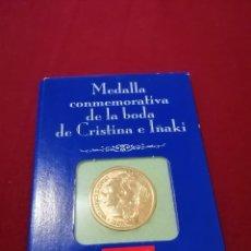 Material numismático: MONEDA CONMEMORATIVA BODA IÑAKI Y ELENA. Lote 218757826