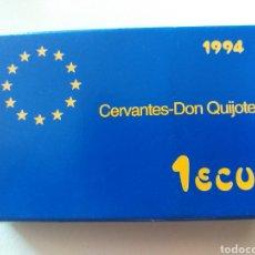 Material numismático: ESTUCHE MONEDA DE 1 ECU 1994 (SIN MONEDA). Lote 219081385