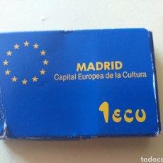 Material numismático: ESTUCHE MONEDA DE 1 ECU 1992 (SIN MONEDA). Lote 219081630
