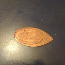 Material numismático: MONEDA CONMEMORATIVA APLASTADA EN ESTADIO WEMBLEY. LONDRES.. Lote 219342727