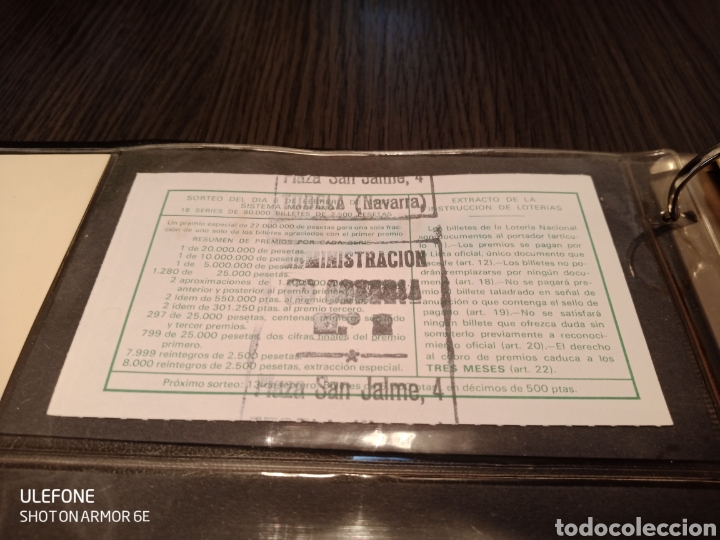 Material numismático: Antiguo Álbum Billetes/Loteria - Foto 9 - 219766143