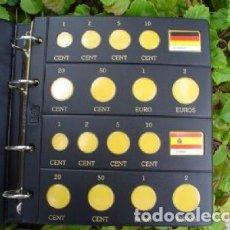 Material numismático: HOJA NUMIS NEGRA €URO 2 PAÍSES/ HOJA.. Lote 220080352