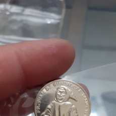 Material numismático: MEDALLA MONEDA PLATA PERSONAJES HISTÓRICOS EXTREMADURA FRAY JUAN DE GUADALUPE REF56. Lote 220426996