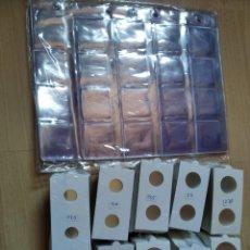 Matériel numismatique: 25 HOJAS PARA 20 CARTONES + 500 CARTONES. Lote 222287437