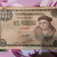 Material numismático: BILLETE MIL PESETAS 1946. Lote 222501170