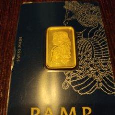 Material numismático: LINGOTE ORO 24K 999.9 DE PUREZA10 GRAMOS. Lote 222656053