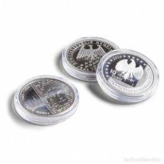 Material numismático: 5 CAPSULAS PARA MONEDAS DE HASTA 43MM.. Lote 222716683