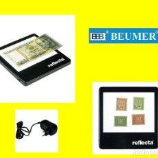 Material numismático: BASE DE LUZ LED QUE INCLUYE FUENTE DE ALIMENTACIÓN. COMPROBACIÓN BILLETES DE BANCO, SELLOS, ETC.. Lote 223869308