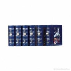 Material numismático: VISTA ÁLBUM ANUAL PARA MONEDAS DE EURO CON CAJETÍN PROTECTOR, AZUL. Lote 224082268