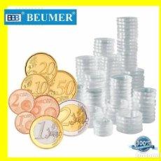 Matériel numismatique: 100 CAPSULAS DIÁMETRO 26MM. ESPECIALMENTE UTIL PARA MONEDAS DE 2 €UROS.. Lote 254454705