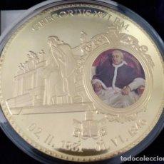 Material numismático: BONITA MONEDA XXL 70 MM CONMEMORATIVA AL NOMBRAMIENTO DEL PAPA GREGORIO XVI EN CIUDAD DEL VATICANO. Lote 226818184