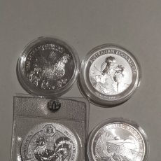 Material numismático: 4 ONZAS DE PLATA. Lote 226947400