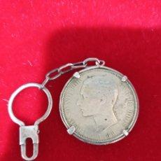Material numismático: MONEDA LLAVERO ALFONSO XII 1881. 5 PESETAS. Lote 227483915
