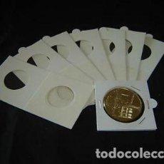 Material numismático: 1000 CARTONES PARA GRAPAR.DIÁMETROS A ELEGIR.PAQ. DE 100X10. Lote 296599113