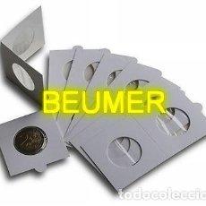 Material numismático: 2000 CARTONES SURTIDOS + 100 HOJAS FOLIO PARA 20 CARTONES CADA UNA.. Lote 229377060