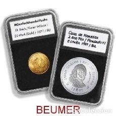 Material numismático: 100 CÁPSULAS ESPECIALES.*EVERSLAB*.UN CLICK !, Y CERRADAS PARA SIEMPRE.. Lote 229388255