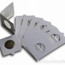 Material numismático: CARTONES GRAPAR. DIÁMETRO 27,5MM. PAQUETE 100 UNIDADES.ESPECIAL 2 €UROS.. Lote 266478368