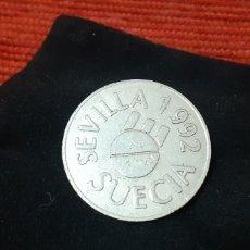 Material numismático: EXPO SEVILLA 92 ,PABELLON SUECIA. Lote 230046815