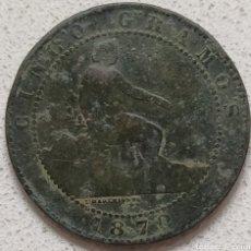 Material numismático: 5 CÉNTIMOS 1870. Lote 232149905