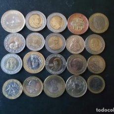 Material numismático: CONJUNTO DE 20 MONEDAS BIMETALICAS MUNDIALES DE 17 PAISES DIFERENTES VER FOTOS. Lote 232920005