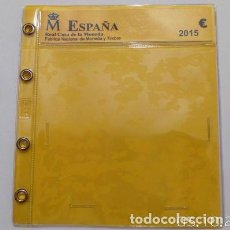 Material numismático: 10 HOJAS CON PUNTO PARA BLISTER. Lote 234698600