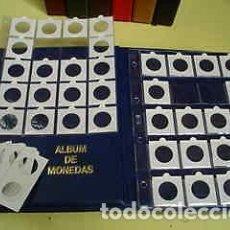 Material numismático: 100 HOJAS FOLIO PARA 20 CARTONES + 2000 CARTONES MONEDAS SURTIDOS, A ELEGIR.. Lote 235050240