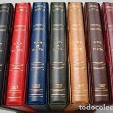 Material numismático: 7 ALBUMES BILLETES CON CAJETÍN.TAMAÑO 27X33CM.INCLUYEN 70 HOJAS.COLORES A ELEGIR. Lote 235052475