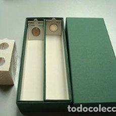 Material numismático: 500 CARTONES MONEDAS PARA GRAPAR + CAJA ARCHIVADOR CARTÓN RÍGIDO.. Lote 235122965