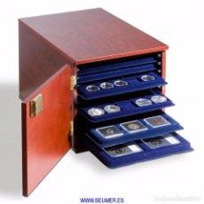 Material numismático: GABINETE LEUCHTTURM, PARA 10 BANDEJAS DE MONEDAS TAB (NO INCLUÍDAS). Lote 235716235