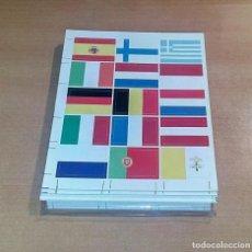 Material numismático: GRAN LOTE DE HOJAS PARA BLISTER - HOJAS DE SEPARACION Y HOJAS DE BANDERAS PARA EUROS. Lote 236637205