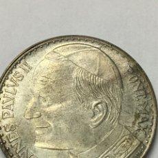 Material numismático: MONEDA CONMEMORATIVA JOANNES PAVLVS II PLATEADA. Lote 243439885